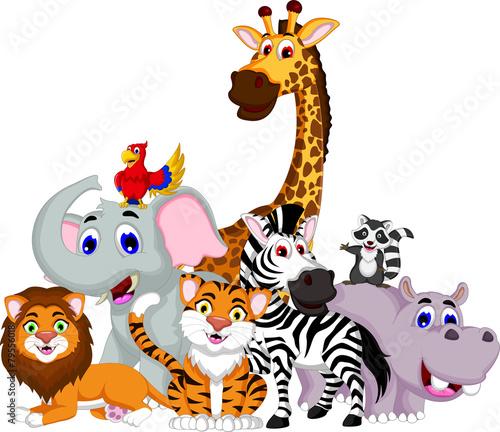 kolekcja-zabawnych-kreskowek-zwierzat