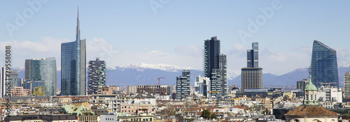 Milano, skyline Canvas Print