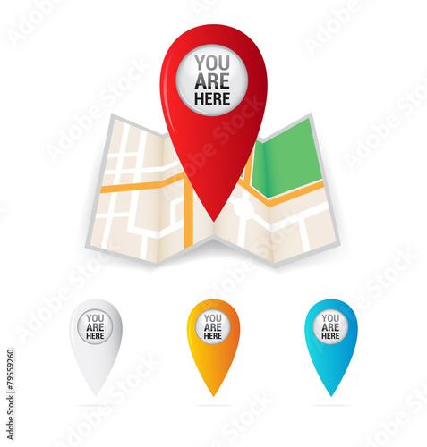 Fotografía  You Are Here Map Locator