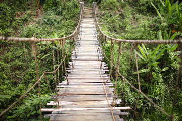 The hanging bridge horizontal