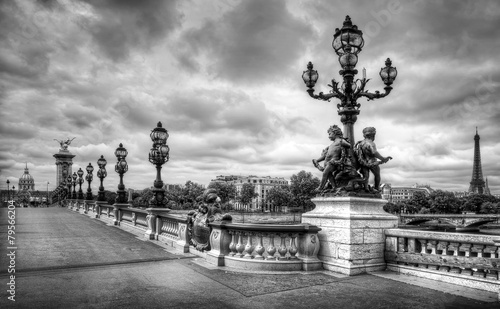 Photo  Paris pont Alexandre III, Paris