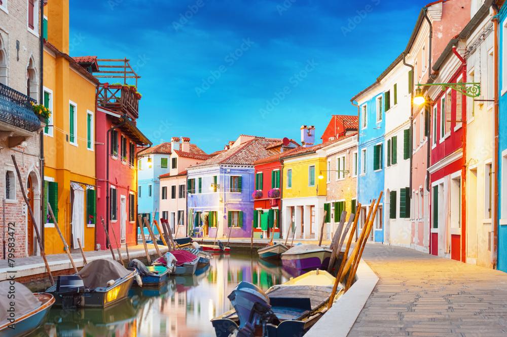 Fototapety, obrazy: Burano Wenecja Włochy