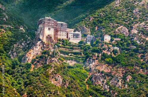 Fototapeta Mt. Athos, Greece, Holy Monastery of Simonos Petra (Simonopetra)