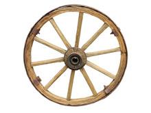 Antique Cart Wheel Made Of Woo...