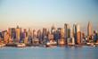 New York City Manhattan midtown buildings skyline evening