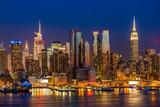 Fototapeta Nowy Jork - New York City Manhattan midtown buildings skyline night