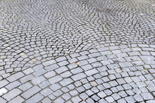 Pavement Of Granite With Fish Scale Pattern