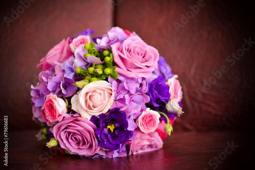 obraz lub plakat Ślub bukiet z róż