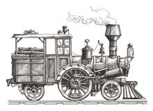 Steam Locomotive Vector Logo D...