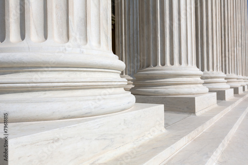 Supreme Court of United states columns row Poster