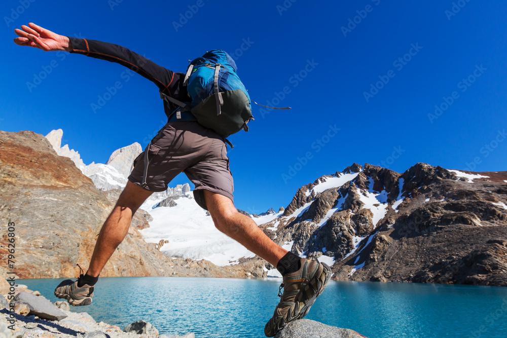 Fototapety, obrazy: Hike in Patagonia