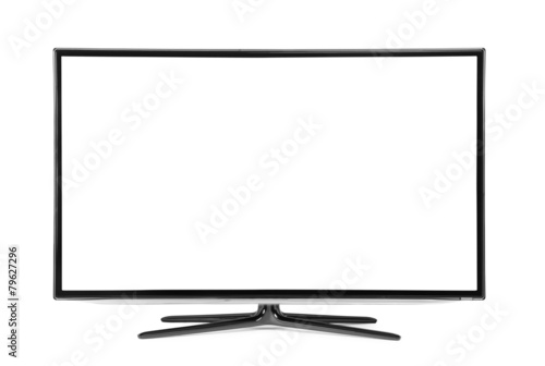 monitor isolated on white Wallpaper Mural
