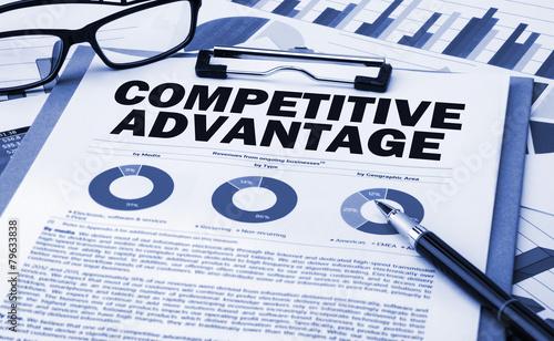 competitive advantage analysis Canvas Print