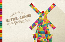 Travel Netherlands Landmark Po...