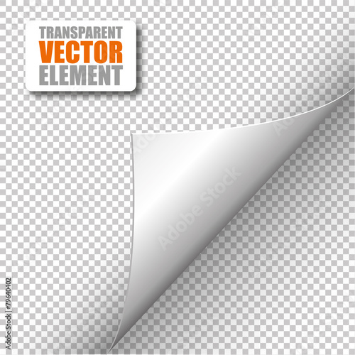 Fototapeta Corner - Transparent Vector obraz