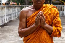 Monk Hands For Prayer