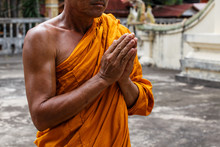 Monk Hands For Prayer