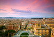 Wonderful view of Rome at sunset time
