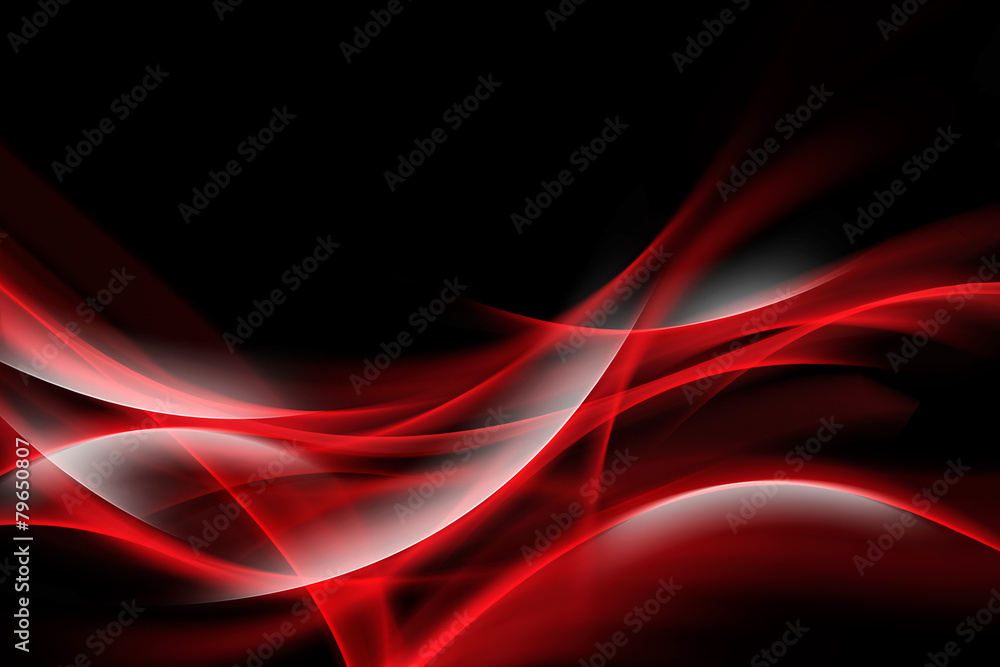 Fototapeta Elegant Red Waves