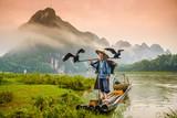 Kormoran FIsherman w Guilin, Chiny nad rzeką Li. - 79651037