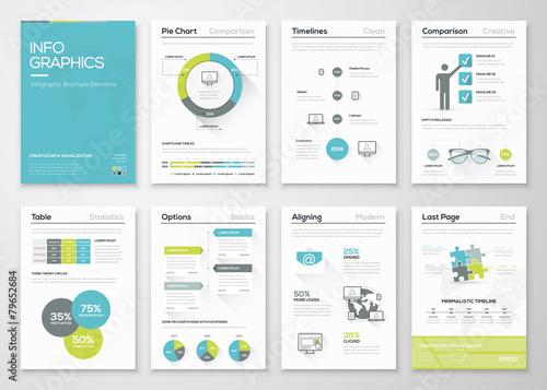 Fotografía  Fresh infographics vector concept. Business graphics brochures