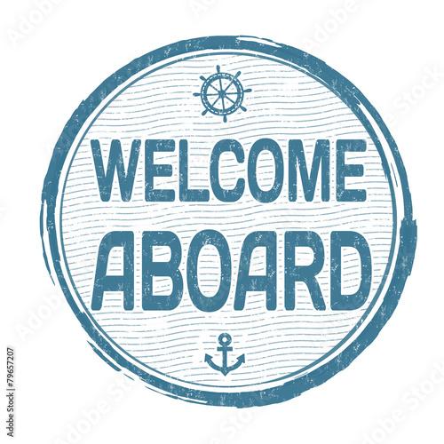 Fotografie, Obraz  Welcome aboard stamp