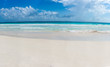 Panorama of Tulum beach view, caribbean paradise, at Quintana Ro