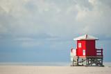 Red lifeguard beach shack - 79659851