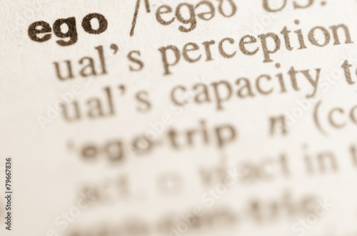 Fotografiet  Dictionary definition of word ego