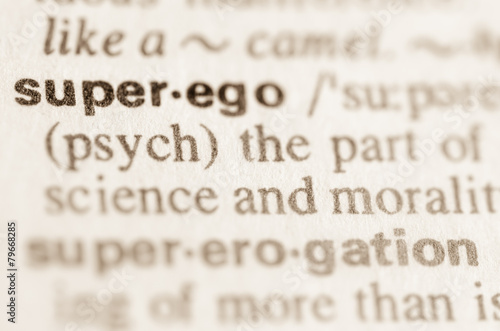 Valokuvatapetti Dictionary definition of word superego
