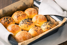 Homemade Tasty Buns With Sesame And Cumin