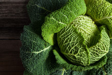Savoy Cabbage Superfood Closeu...