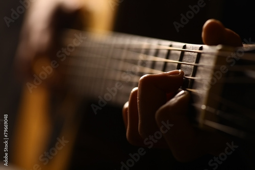 Obraz Acoustic guitar detail - fototapety do salonu
