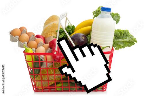 Obraz na plátně  grocery shopping over the Internet
