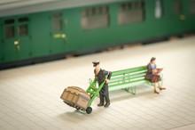 Miniature Railroad Station Por...