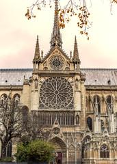 Fototapeta Paris. Notre Dame cathedral. Vintage effect