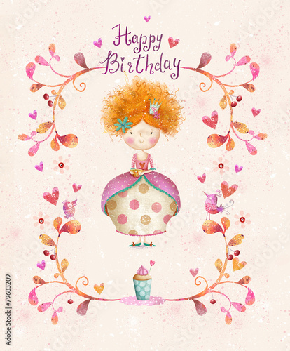 Little PrincessBirthday Greeting CardParty Invitation