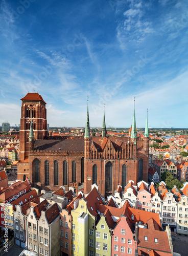 fototapeta na lodówkę Kościół Najświętszej Marii Panny w Gdańsku