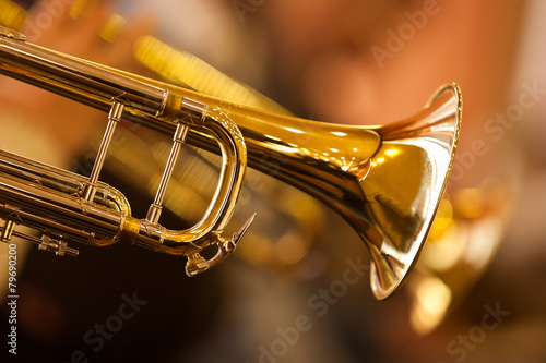 Photo  Fragment trumpet closeup