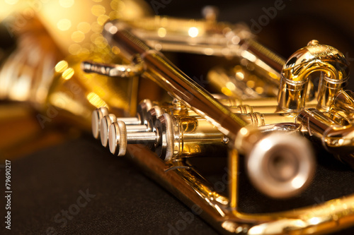 Obraz na płótnie Fragment trumpet closeup