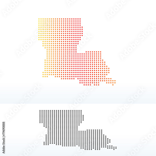 Map of USA Louisiana State with Dot Pattern - Buy this stock vector ...
