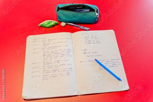 Fotografie, Obraz  Scrivania di uno studente