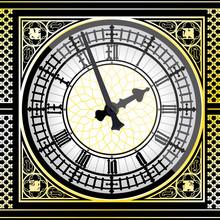 Big Ben Clock Detailed - Vector Illustration
