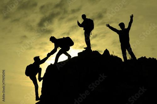 Vászonkép  zirveye ulaşmak&başarılı tırmanış