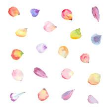 Watercolor Flower Petals