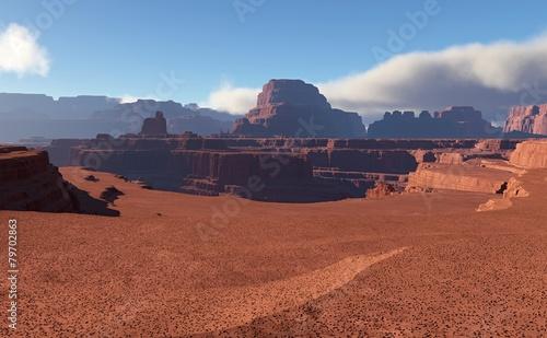 Fotografie, Obraz  3D Fantasy desert landscape