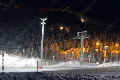 Photographie  Snowpark in ski resort Levi, Finland