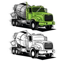 Coloring Book Big Truck Cartoo...
