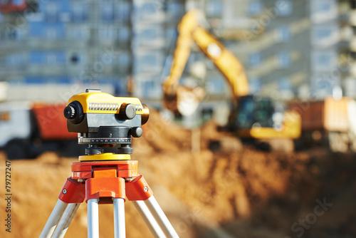 surveyor equipment theodolie outdoors