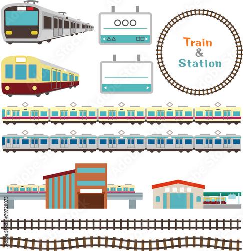 Fotografía  電車と駅の素材